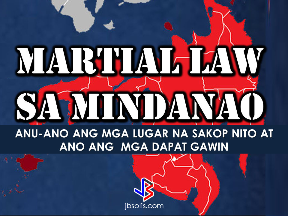 "President Rodrigo Roa Duterte has placed entire Mindanao under Martial Law as he vowed to end terrorism in the area from the recent attack by the so-called Isis-inspired Maute group in Marawi City. The terrorist group started occupying Marawi City on May 23, setting buildings on fire, holding captives and killing a number of civilians.  The declaration of Martial Law was made through Presidential Spokesperson Ernesto Abella while the President was in Moscow. Abella said on Tuesday, ""(Senior Deputy Executive Secretary Menardo Guevarra) has clarified that this was possible on the grounds of existence of rebellion because of what is happening in Mindanao based on Article 7, Section 18 of the Constitution. This is good for 60 days.""  Defense Secretary Delfin Lorenzana said that although the armed conflict only happens in Marawi City, there are also security issues happening in the nearby areas thus the President declares Martial Law for the entire Mindanao.  Lorenzana said, it includes control of movement, searches and arrest of detained people for suspension of writ of habeas corpus.  Suspension of the writ of habeas corpus means they can do arrests even in the absence of warrant to the suspects.  The Philippine National Police has released guidelines to be followed during the implementation of Martial Law in the entire Mindanao.     However, President duterte said he will not allow abuses during the Martial Law. He reiterated that his mandate as a president of the republic is to protect and to defend the country. He also said that he will declare curfew in certain areas like Lanao del Sur, Lanao Del Norte, Maguindanao, Sultan Kudarat, North Cotabato and Zamboanga to protect the civilians.     The areas under the Martial Law are as follows:  Zamboanga del Norte – Dipolog City Zamboanga del Sur – Pagadian City Zamboanga Sibugay – Ipil Bukidnon – Malaybalay City Camiguin – Mambajao Lanao del Norte- Tubod Misamis Occidental – Oroquieta City Misamis Oriental – Cagayan de Oro City Compostela Valley – Nabunturan Davao del Norte – Tagum City Davao del Sur – Digos City Davao Oriental – City of Mati Cotabato – Kidapawan City Sarangani – Alabel South Cotabato – Koronadal City Sultan Kudarat – Isulan Agusan del Norte – Cabadbaran City Agusan del Sur – Prosperidad Dinagat Islands – San Jose Surigao del Norte – Surigao City Surigao del Sur – Tandag City Basilan – Basilan Lanao del Sur – Marawi City Maguindanao – Sheriff Aguak/Maganoy Sulu – Jolo Tawi-Tawi Panglima Sugala/Balimbing  As private citizens without doing anything illegal, we should not fear the martial law for it is made made for our own protection.   Here are some pieces of advice you might consider:  1. Be a law abiding citizen. Respect the  authorities and follow directions and orders. 2. Have a survival kit stocked with food, medicine, water and other necessities. 3. Make yourself  extra aware of what is happening around you. A transistor radio will be handy to keep you updated. 4. If you see any suspicious people near you, call 911.  5. Do not panic as your government is doing anything within their means to protect our sovereignty.  6.PRAY! It is the best weapon we could ever have during these situation. Keep safe!"