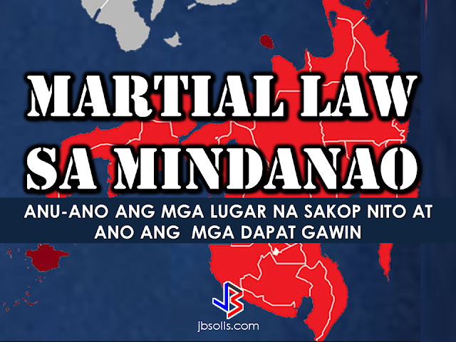 """President Rodrigo Roa Duterte has placed entire Mindanao under Martial Law as he vowed to end terrorism in the area from the recent attack by the so-called Isis-inspired Maute group in Marawi City. The terrorist group started occupying Marawi City on May 23, setting buildings on fire, holding captives and killing a number of civilians.  The declaration of Martial Law was made through Presidential Spokesperson Ernesto Abella while the President was in Moscow. Abella said on Tuesday, """"(Senior Deputy Executive Secretary Menardo Guevarra) has clarified that this was possible on the grounds of existence of rebellion because of what is happening in Mindanao based on Article 7, Section 18 of the Constitution. This is good for 60 days.""""  Defense Secretary Delfin Lorenzana said that although the armed conflict only happens in Marawi City, there are also security issues happening in the nearby areas thus the President declares Martial Law for the entire Mindanao.  Lorenzana said, it includes control of movement, searches and arrest of detained people for suspension of writ of habeas corpus.  Suspension of the writ of habeas corpus means they can do arrests even in the absence of warrant to the suspects.  The Philippine National Police has released guidelines to be followed during the implementation of Martial Law in the entire Mindanao.     However, President duterte said he will not allow abuses during the Martial Law. He reiterated that his mandate as a president of the republic is to protect and to defend the country. He also said that he will declare curfew in certain areas like Lanao del Sur, Lanao Del Norte, Maguindanao, Sultan Kudarat, North Cotabato and Zamboanga to protect the civilians.     The areas under the Martial Law are as follows:  Zamboanga del Norte – Dipolog City Zamboanga del Sur – Pagadian City Zamboanga Sibugay – Ipil Bukidnon – Malaybalay City Camiguin – Mambajao Lanao del Norte- Tubod Misamis Occidental – Oroquieta City Misamis Oriental – Cagayan de O"""