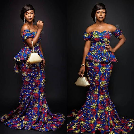 Captivating Off Shoulder Ankara Skirt And Blouse Styles For Smart