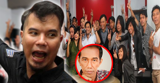Wow! Ahmad Dhani Siap Gamparin Artis-artis Pro-Jokowi?