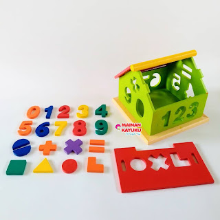 Mainan Sortasi Rumah Angka