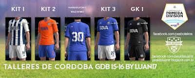 Kit Talleres de Cordoba 2015-2016 Pes 2013