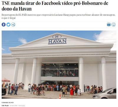 Print da matéria do El País