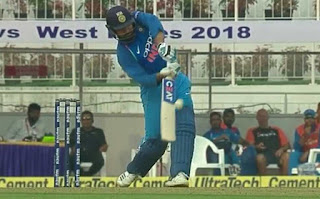 Rohit Sharma smashed unbeaten 63 off 56 against WI in 5th ODI