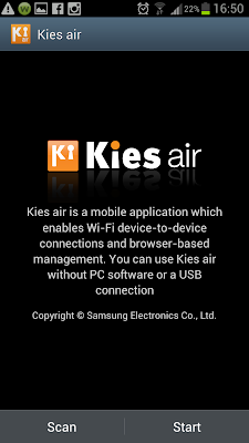 Kies air - A mobile applications enable you to share files and browser-based management