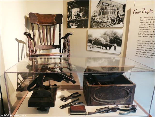 Objetos del Museo Concord, Massachusetts