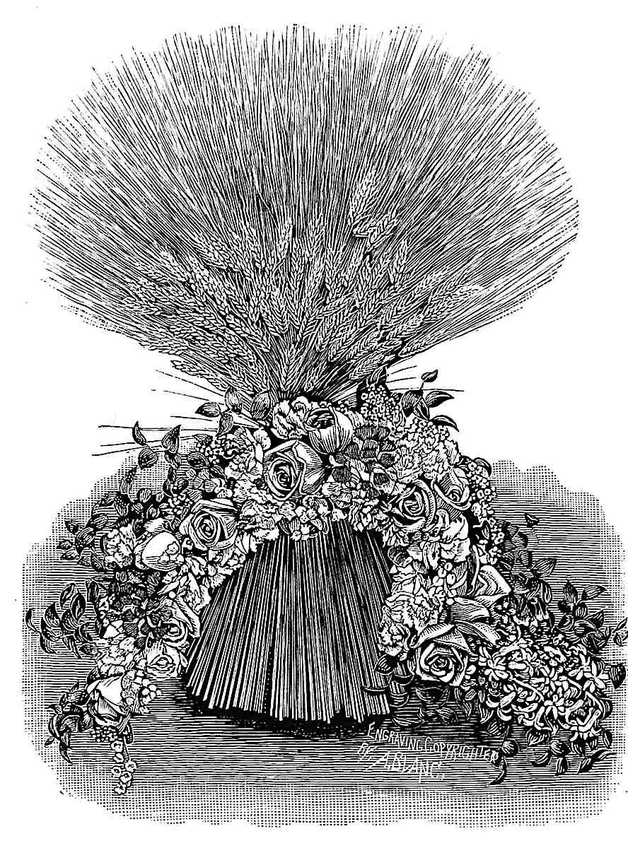 a decorative 1888 cinched sheaf from a dried flower catalog