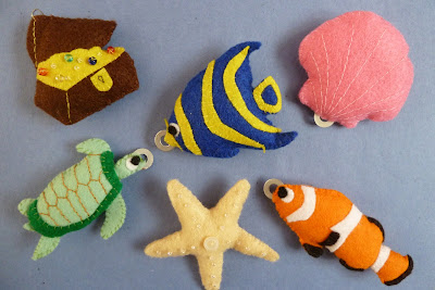 felt sea creature fishing game