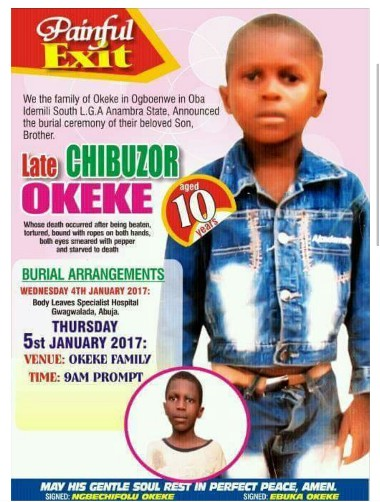 WICKED GENERATION!! SEE THE 10-YEAR-OLD BOY'S OBITUARY THAT WILL LEAVE YOU SAD AND SPEECHLESS (PHOTOS)