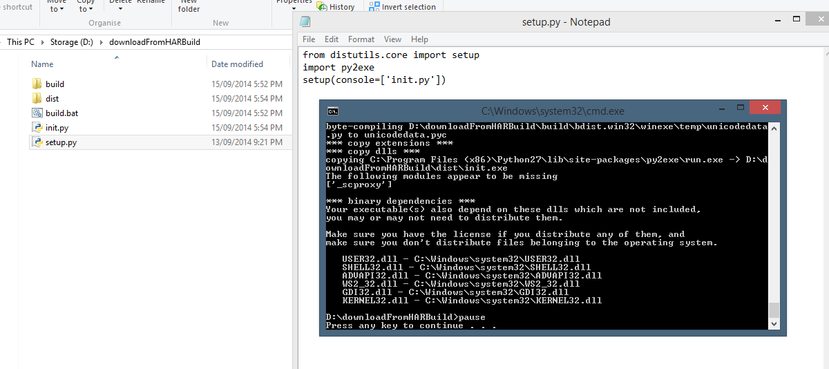 python to exe program