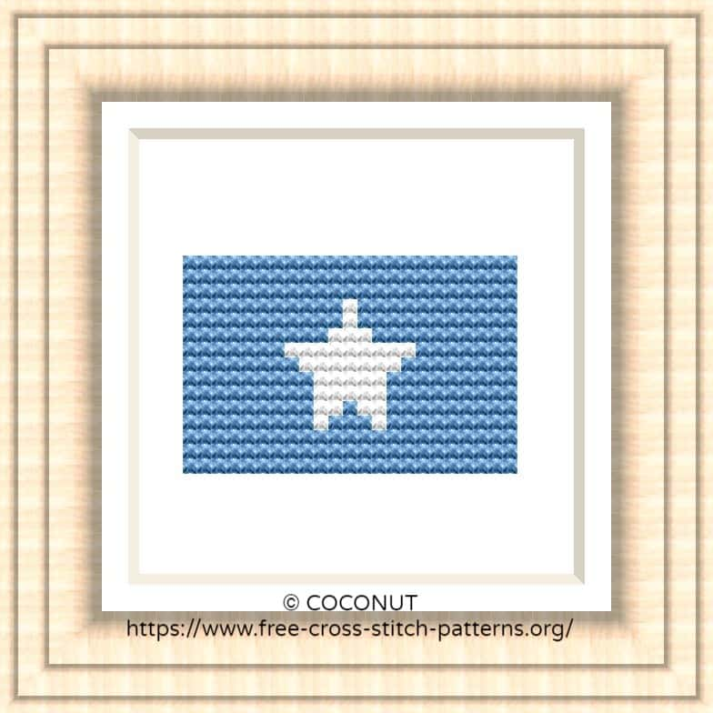 NATIONAL FLAG OF SOMALIA CROSS STITCH CHART