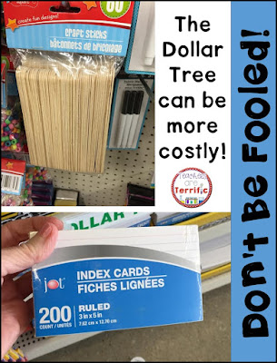 The dollar store is great, but don't be fooled! Some things are less expensive at Wal mart or Target!