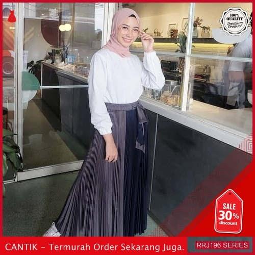 Jual RRJ196R191 Rok Skirt Duatone Wanita Plisket Mo Terbaru BMGShop