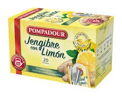 Infusiones pompadour jengibre con limón