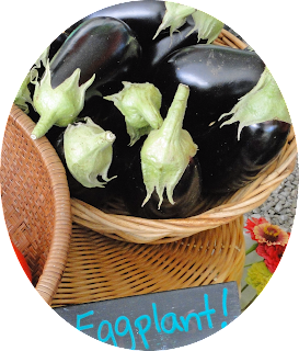 When picking an eggplant look at the tops, they should be bright green.  Avoid blemished on the body.