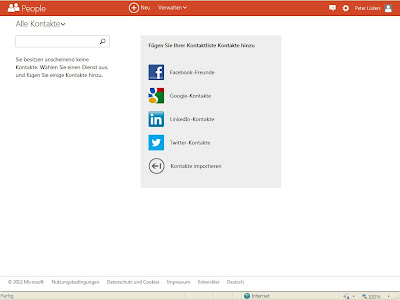 Outlook.com Kontakte
