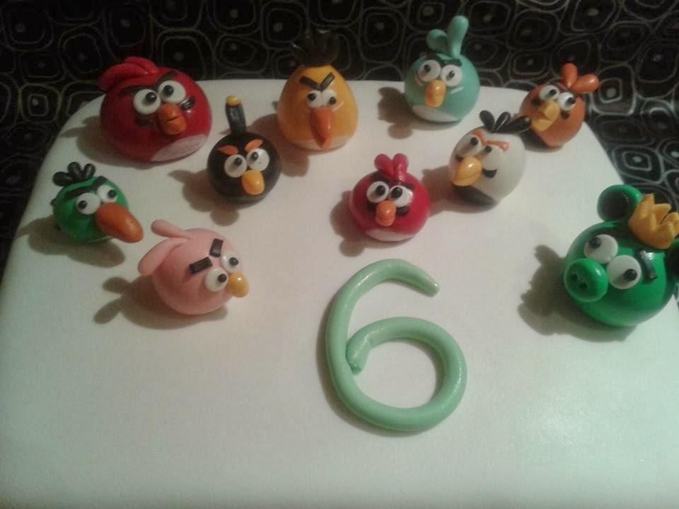Tartas de fondant Angry birds