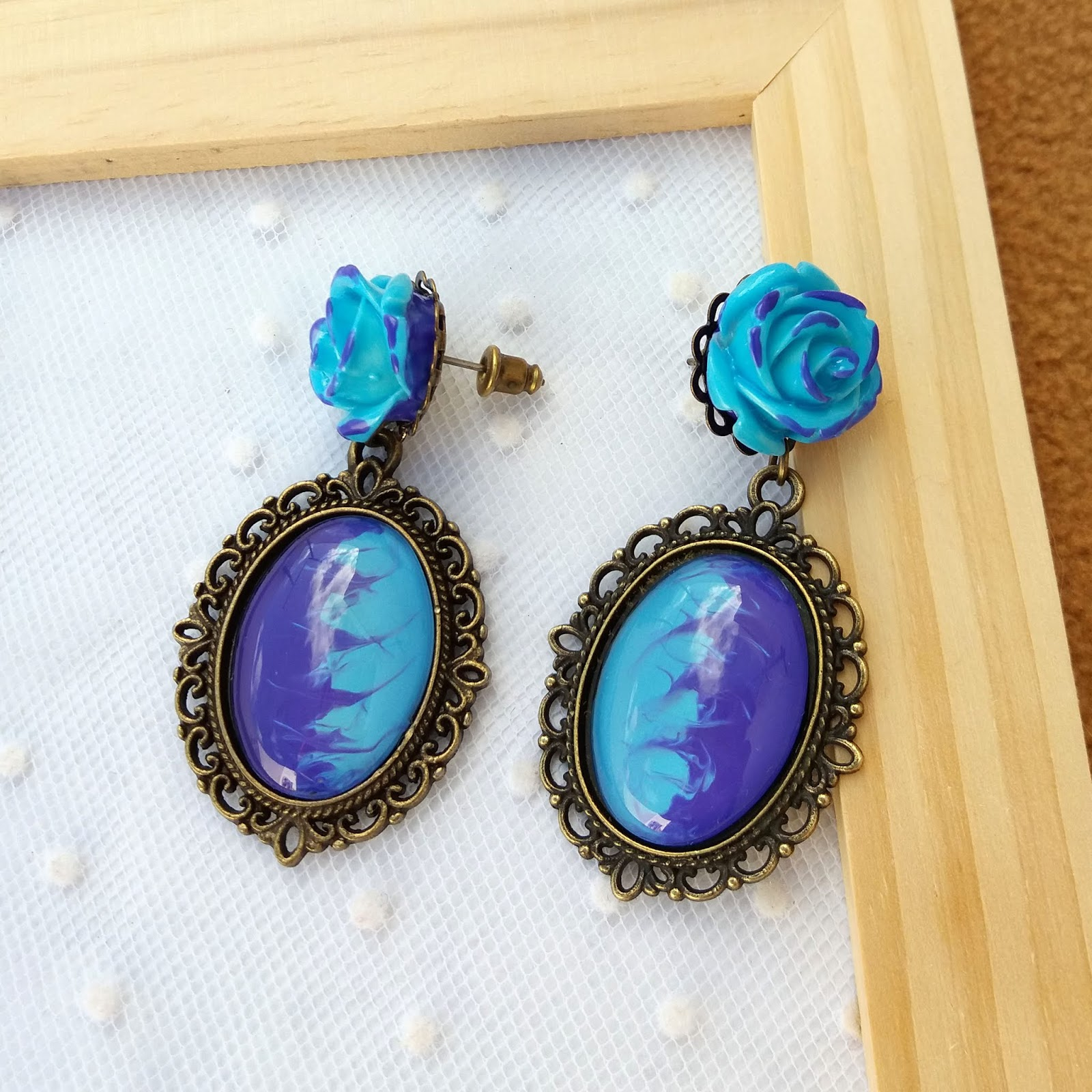 10 flores de cristal en violeta 9 mm