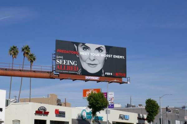 Seeing Allred Netflix billboard