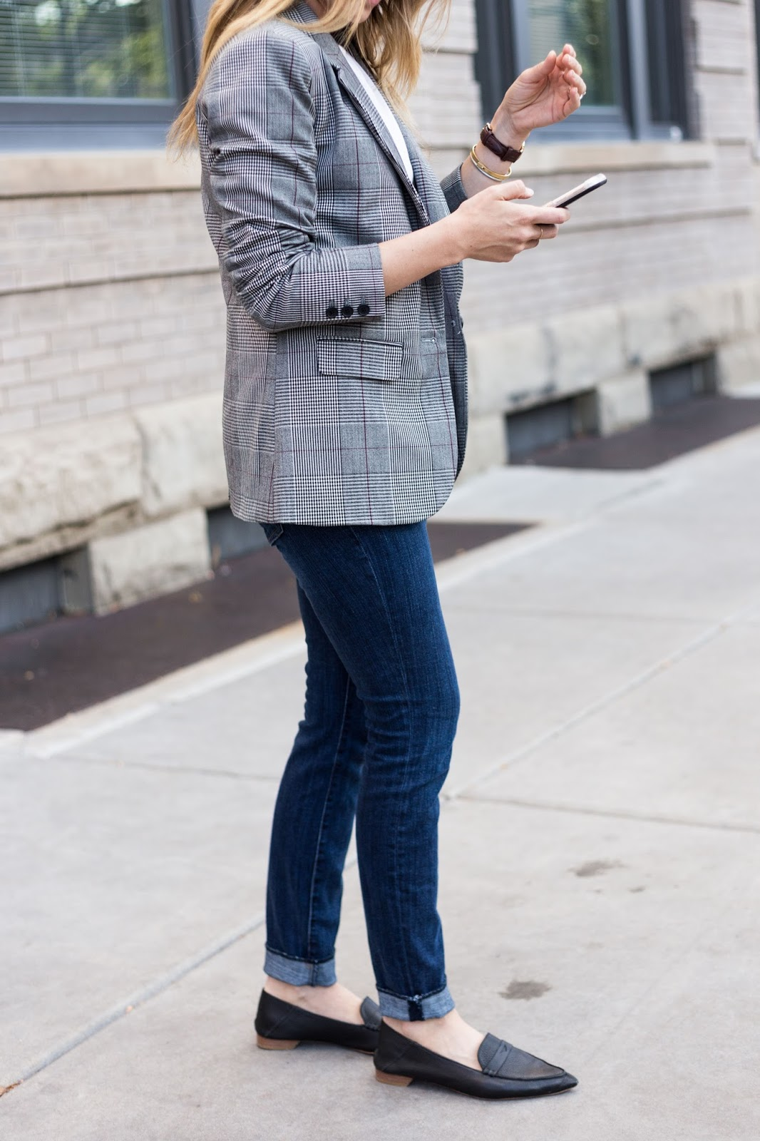 Boyfriend Inspired Outfit - Boyfriend Blazer by Colorado fashion blogger Eat Pray Wear Love