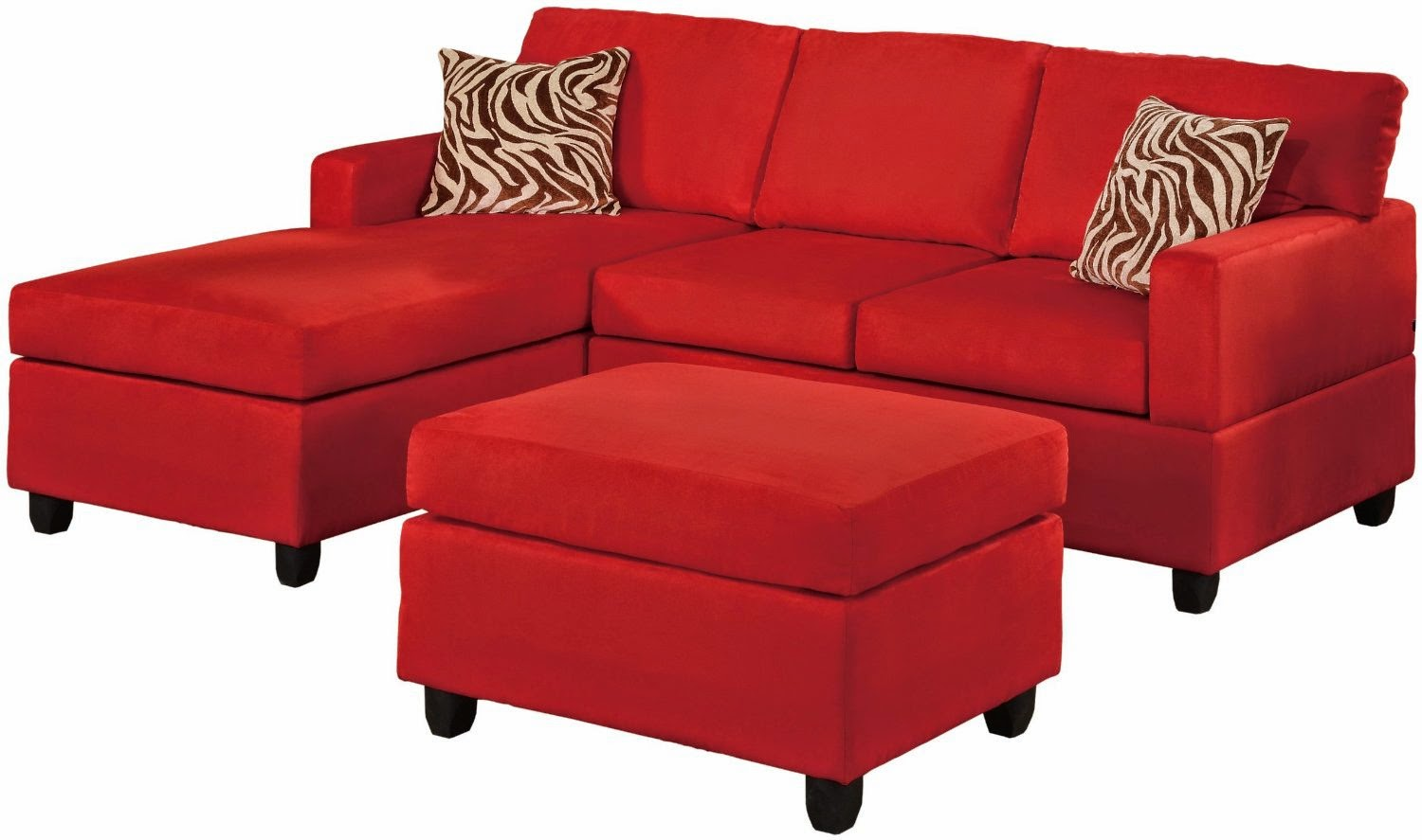 red microfiber reclining sofa 4 piece sectional with chaise couches