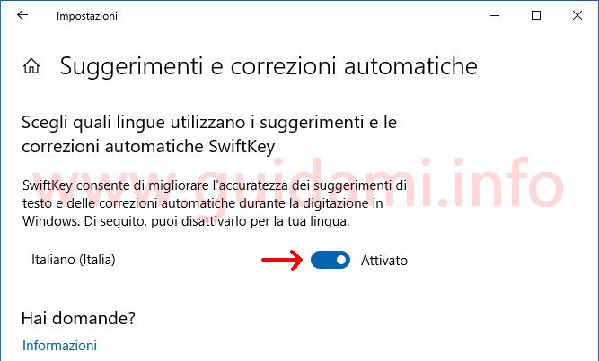 Windows 10 Impostazioni Suggerimenti e correzioni automatiche