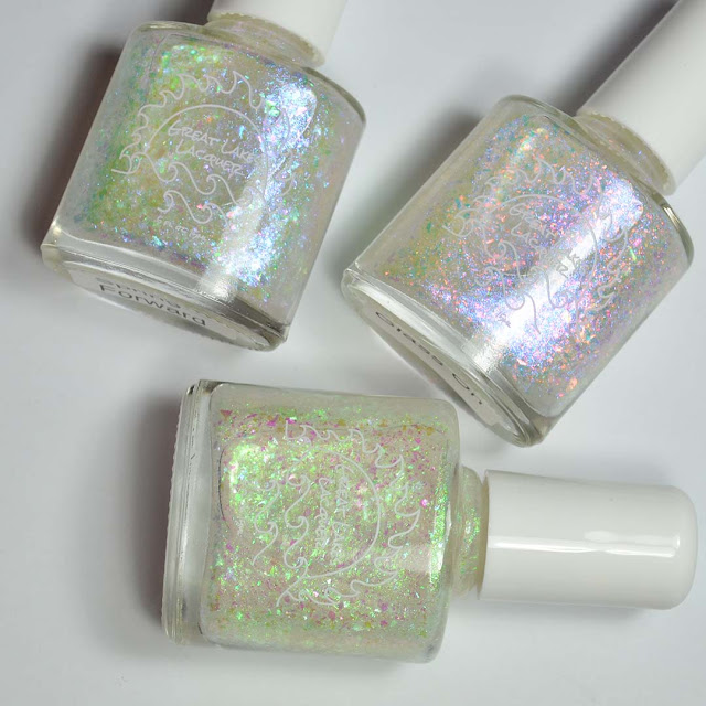 flakie shimmer nail polish toppers