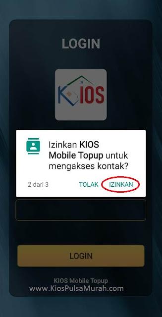 Izinkan KiOS Mobile Topup untuk mengakses kontak