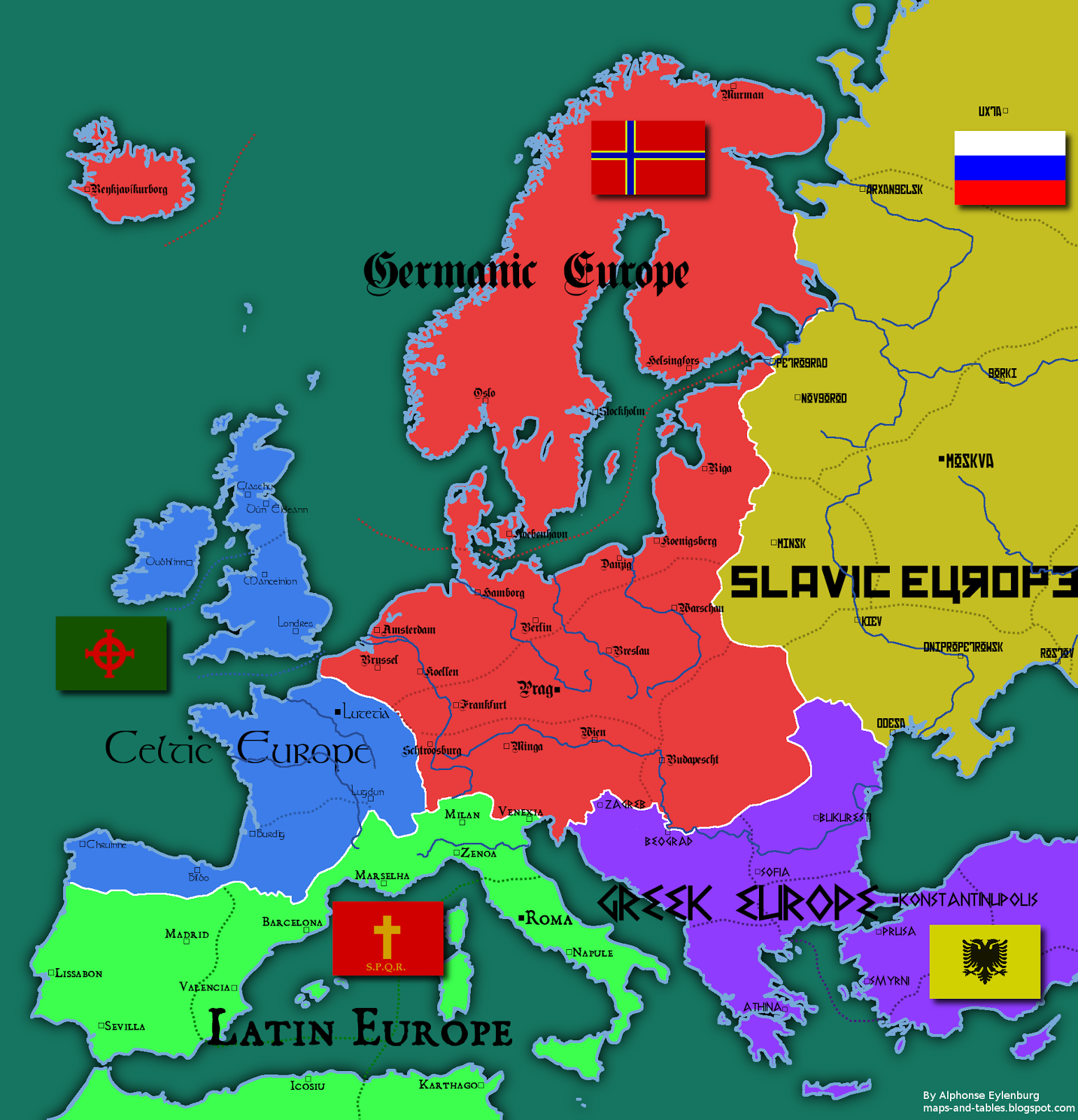 Map Of Europe With Provinces.Maps And Tables 4 Maps Of An Alternative Europe