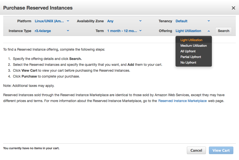 AWS Announced Simplified Reserved Instances (no-upfront)