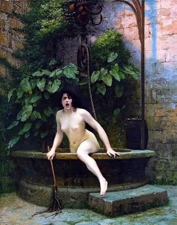 jean-leon gerome, 1869 Truth rising from Her Well to Shame Mankind