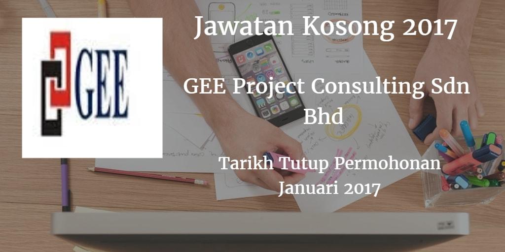 Jawatan Kosong GEE Project Consulting Sdn Bhd Januari 2017