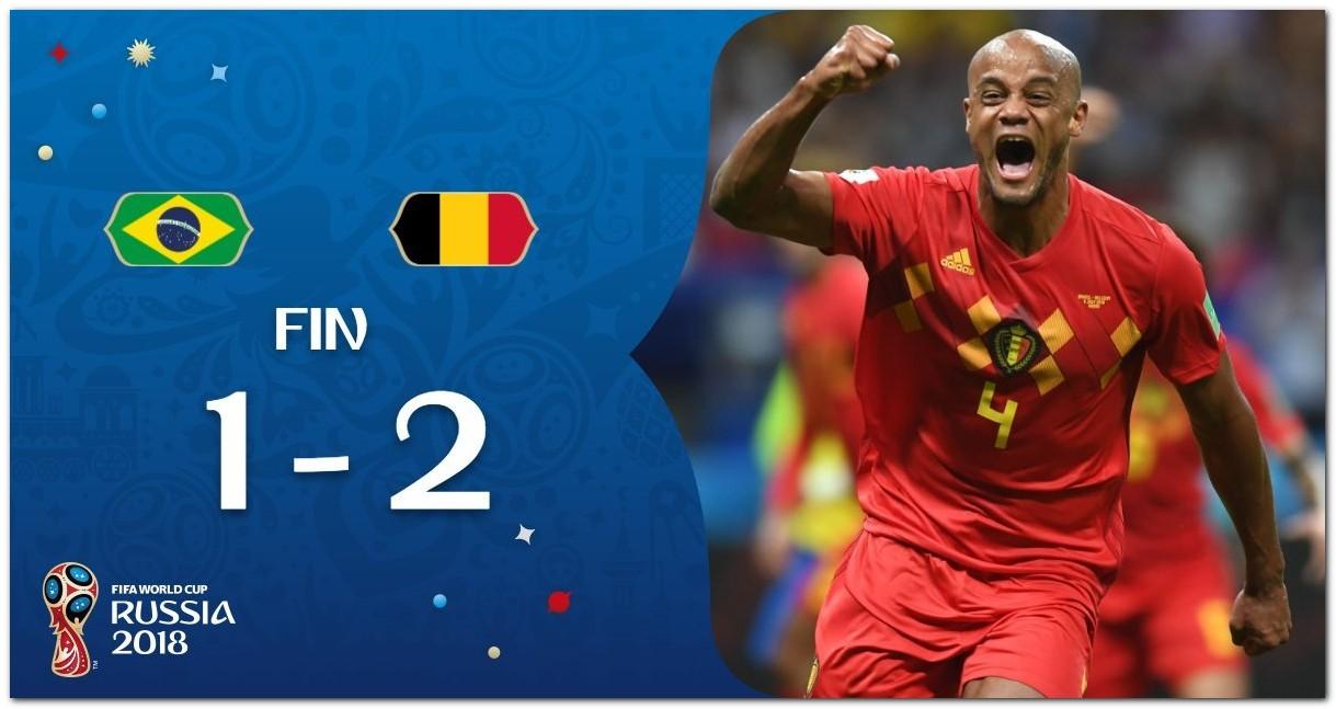 Cuplikan Gol Brasil vs Belgia Piala Dunia 2018