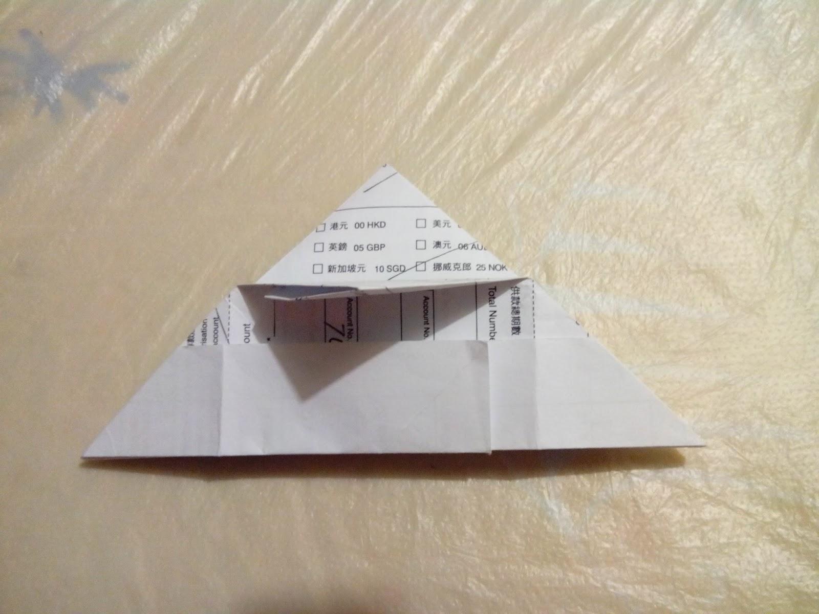 安樂生活誌 au date's home: 摺紙〔盒子帽 Cap〕Origami