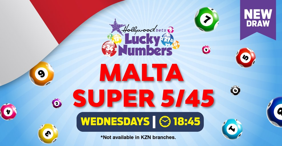 Malta Super 5/45 - Lucky Numbers - Lotto Draw - Hollywoodbets