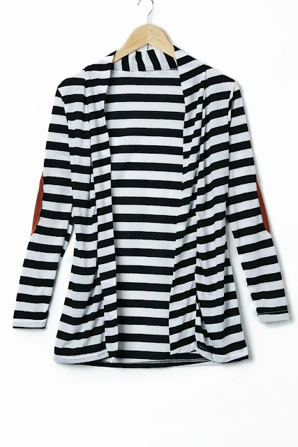 Stylish Long Sleeve Striped Slimming Women's Blouse - Stripe - M