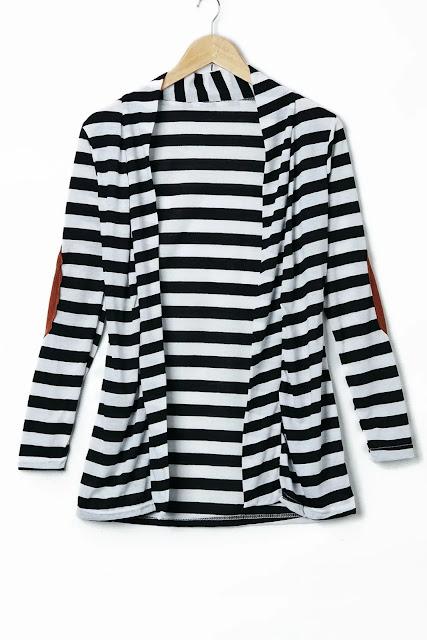 Stylish Long Sleeve Striped Slimming Women's Blouse - Stripe - M
