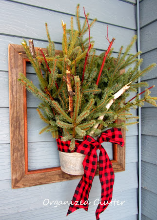 Framed Christmas Greenery