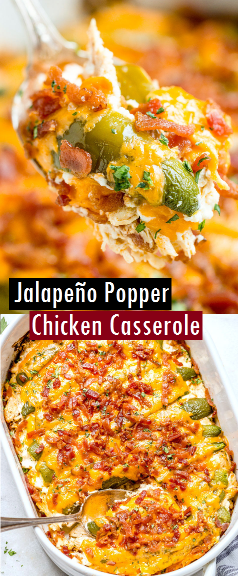 Jalapeño Popper Chicken Casserole