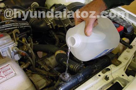 Cara mengatasi mobil hyundai atoz macet tidak bisa di starter karena mesin panas (overheat)