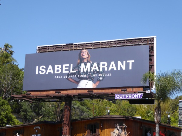 Isabel Marant Spring 2017 fashion billboard