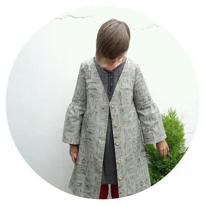 Sweet Dress Book: Bell sleeve coat dress W