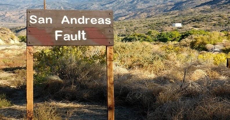 Erbebenzone San Andreas Graben