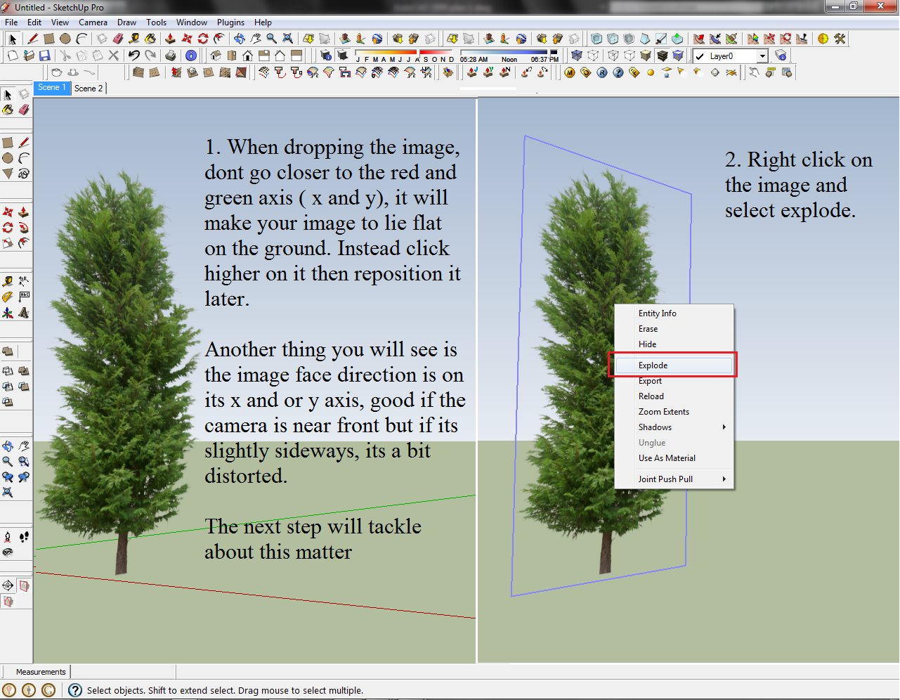 SKETCHUP TEXTURE: TUTORIAL FOR RENDERING TREES AND SHRUBS in