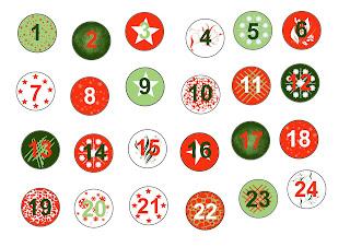 chiffres numéros gratuit à imprimer pour calendrier de l'avent noel