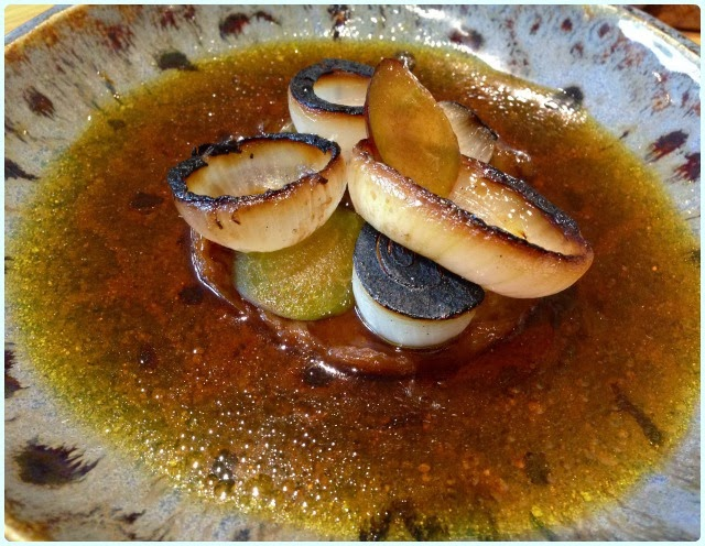 Restaurant Story, London - Onion and English Plum