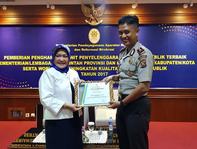 Polres Muba Raih Penghargaan Dari KemenPan - RB