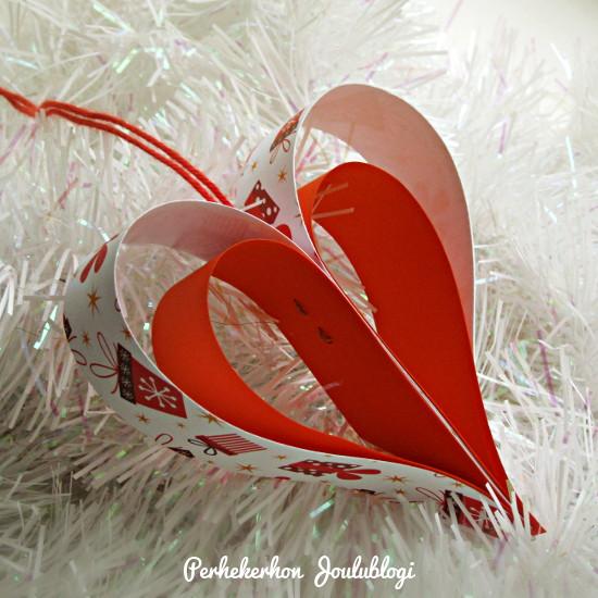 Kuva: Askartele helppo joulukoriste paperista: ripustettava sydän