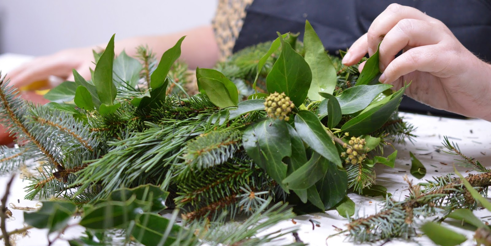 How hard is it to make your own wreath for Christmas?  - adding foliage