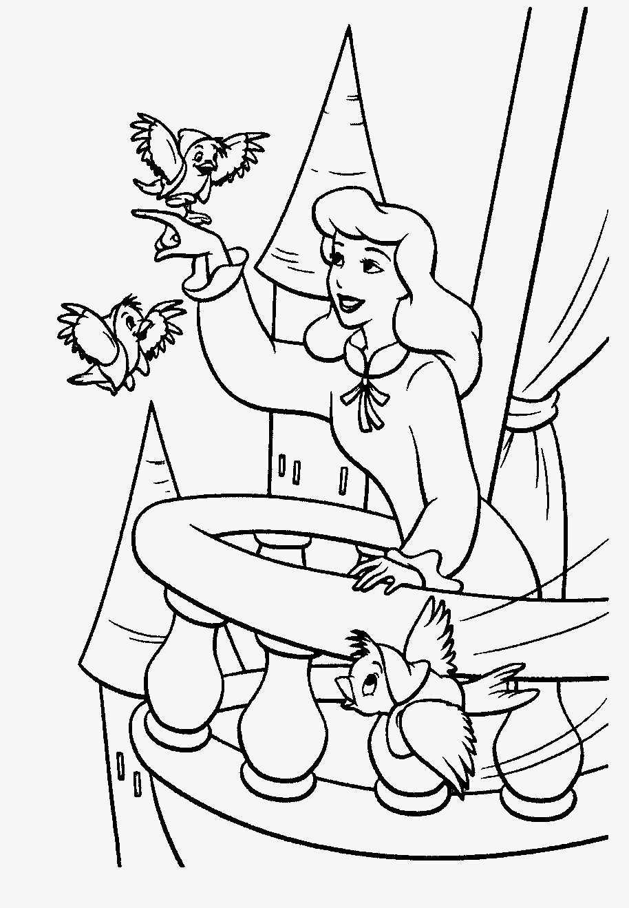 Cinderella coloring pictures for Cindrella coloring pages